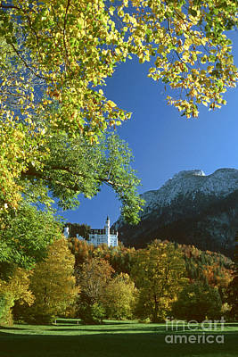 Neuschwanstein Castle Bavaria In Autumn Art Print by Rudi Prott