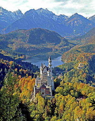 Photograph - Neuschwanstein Castle Near Füssen by Hans-peter Merten