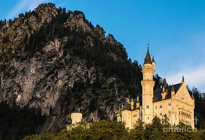Neuschwanstein Castle Photograph - Neuschwanstein Castle Sunset - Bavaria - Germany by Gary Whitton