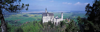 Scenic Woodlands Photograph - Neuschwanstein Palace Bavaria Germany by Panoramic Images