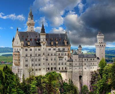 Exotic Photograph - Neuschwanstein The White Swan Castle by Julia Fine Art And Photography