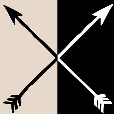 Arrow Mixed Media - Neutral Glam Arrows by South Social Studio
