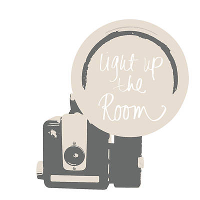Neutral Glam Camera Art Print