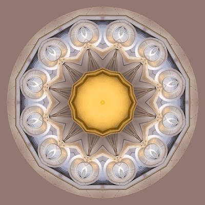 Neutral Kaleidoscope Square Original by Betty Denise
