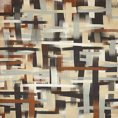 Light-brown Painting - Neutral Patterns by Lourry Legarde