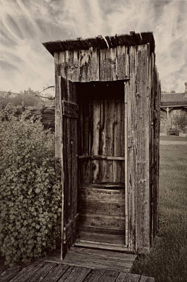 Nevada City Ghost Town Outhouse - Montana Art Print by Daniel Hagerman