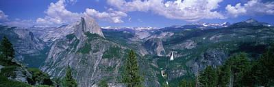 Yosemite Np Photograph - Nevada Fall And Half Dome, Yosemite by Panoramic Images