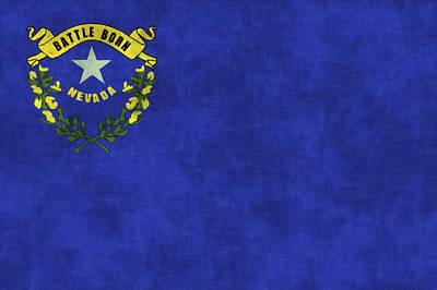 Nevada Digital Art - Nevada Flag by World Art Prints And Designs
