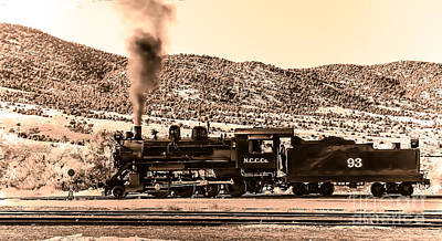Haybales Photograph - Nevada Northern Railway by Robert Bales