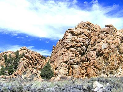 Photograph - Nevada Rock Formations 2 by Will Borden