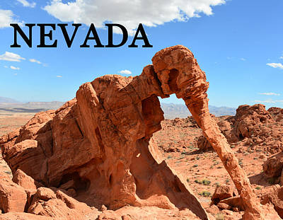 Photograph - Nevada State Work Elephant Rock by David Lee Thompson