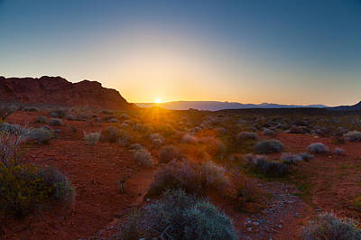 Photograph - Nevada Sunrise by Brian Grzelewski