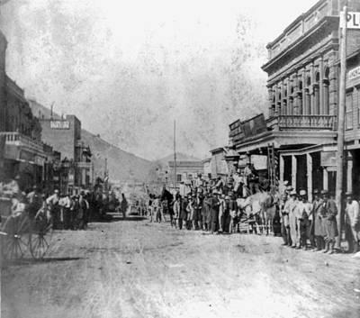 Nevada Virginia City, 1866 Art Print