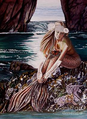 Mermaid Painting - Never A Bride by Michaeline McDonald