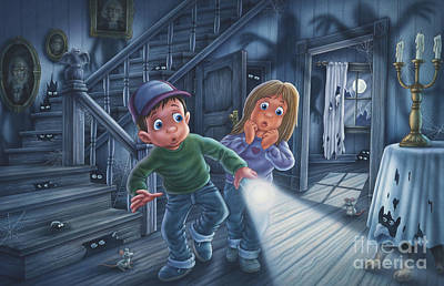 The Haunted House Painting - Never Alone by Phil Wilson