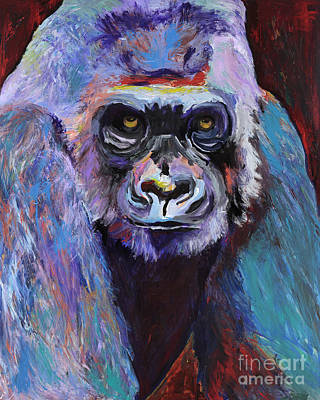 Large Format Painting - Never Date A Gorilla With A Nice Smile by Pat Saunders-White