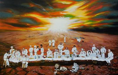 Painting - Never Ending Last Supper by Raymond Perez
