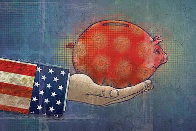 Uncle Sam Digital Art - Never Enough by Dennis Wunsch