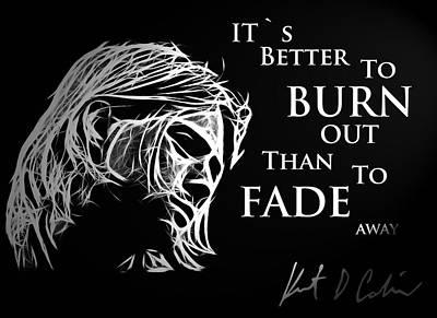 Kurt Cobain Painting - Never Fade Away by Steve K