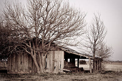 Never Forgotten - Rustic Barn Art Print by Gregory Ballos
