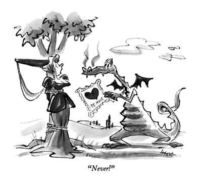 Never! Art Print by Lee Lorenz
