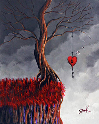 Red Cliff Painting - Never Letting Go by Shawna Erback