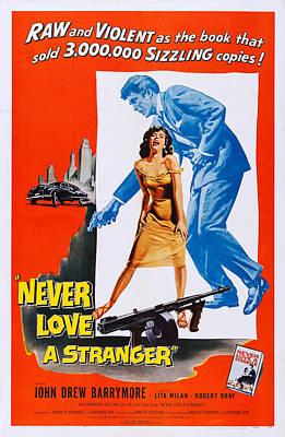 Drew Barrymore Photograph - Never Love A Stranger, Top John Drew by Everett