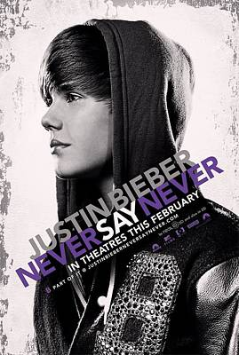 Bieber Photograph - Never Say Never 2 by Movie Poster Prints