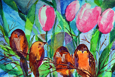 Tulips Painting - Never The Less Thy Will Be Done by Ashleigh Dyan Bayer