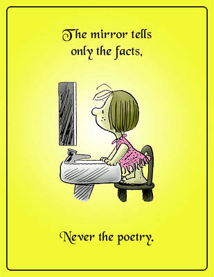 Never The Poetry Art Print by Mike Flynn