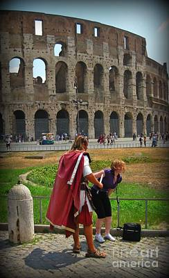 Colliseum Photograph - Never Trust A Gladiator by John Malone
