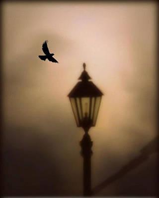 Street Lamps Digital Art - Nevermore by Charlene Murray Zatloukal