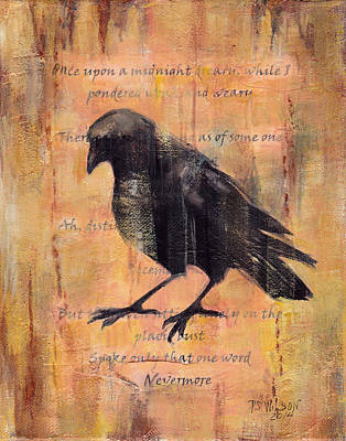 Brown Tones Mixed Media - Nevermore II by Peggy Wilson