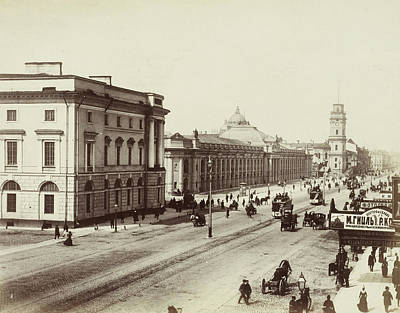 Main Street Drawing - Nevsky Prospekt, The Main Street In St by Artokoloro