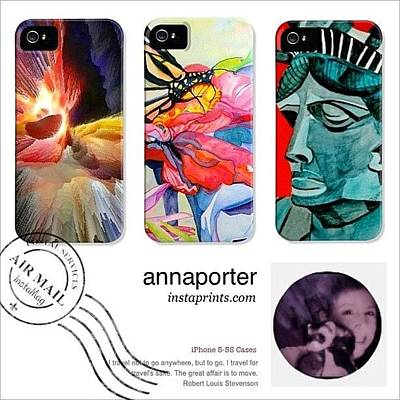 Case Photograph - New Abstract Art Iphone 5-5s Cases by Anna Porter