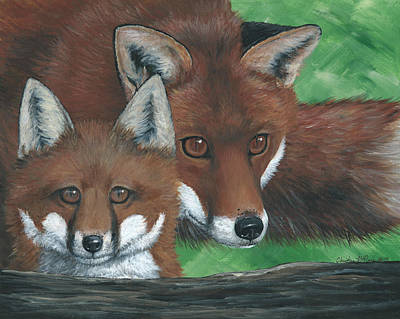 Fox Kit Painting - New Adventure by Christine StPierre