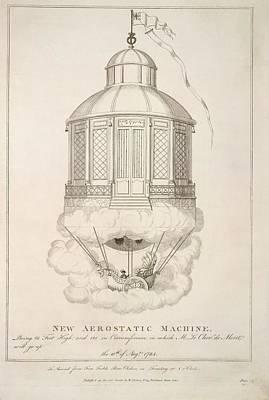 New Aerostatic Machine Art Print by British Library