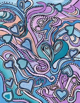 Painting - New Age Heart With Soul by Barbara St Jean