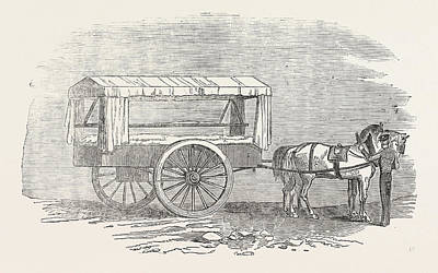 Art Mobile Drawing - New Ambulance With The Army In The East 1854 The Hospital by Turkish School