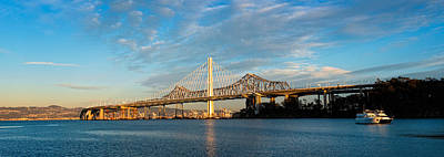 Bay Bridge Photograph - New And Old Eastern Span by Panoramic Images
