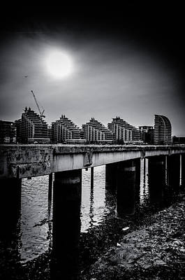 New Apartments Near Battersea Art Print by Lenny Carter