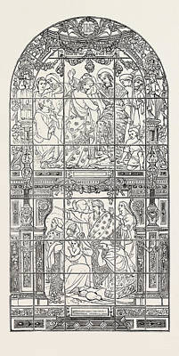 Baptistry Drawing - New Baptistry Window In The Church Of St by English School