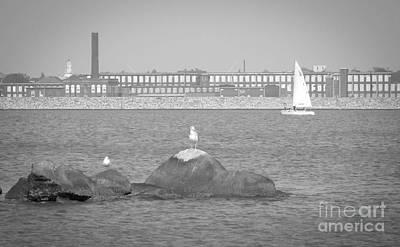 Photograph - New Bedford Massachusetts Black White by Andrea Anderegg