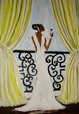 Over Hang Painting - New Beginning by Comecha  Stewart Martin