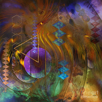 Digital Art - New Beginning - Square Version by John Beck