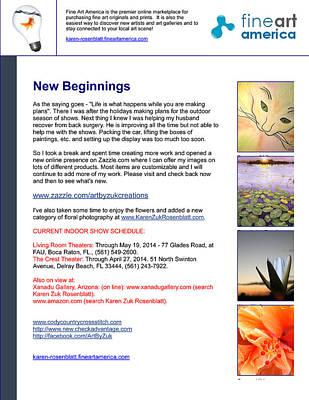Painting - New Beginnings by Karen Zuk Rosenblatt