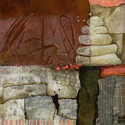 Abstract Collage Mixed Media - New Beginnings by Laura  Lein-Svencner