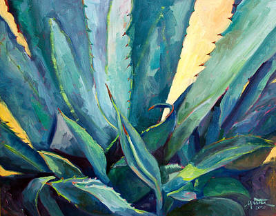 Agave Painting - New Blue Agave by Athena  Mantle