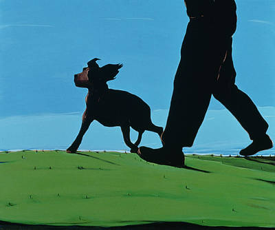 New Boys In Town, 1997 Art Print by Marjorie Weiss