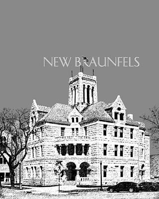 New Braunfels Skyline - Pewter Art Print by DB Artist